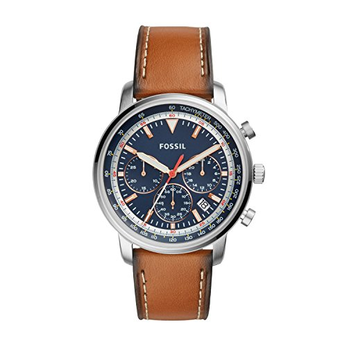 Fossil Herren Analog Quarz Uhr mit Leder Armband FS5414