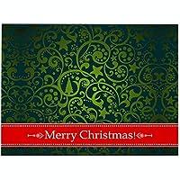 プレースマット、4PCSクリスマスプレースマットセット、ダイニングテーブルの装飾用の洗える耐熱クリスマス耐熱プレースマット,A