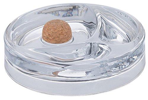 GERMANUS Pfeifenascher mit Abklopfer und Pfeifenablage aus Glas