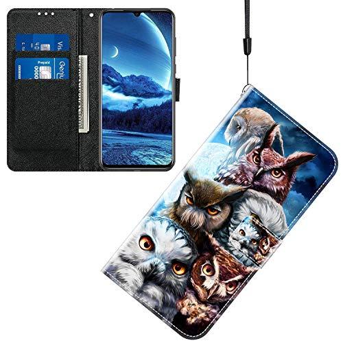 Jamitai Klapptasche für Handy Meizu M5 Hülle Leder Handytasche Handyhülle Brieftasche Hüllen Hülle mit Kartenfach & Ständer/ZMT01P-0F