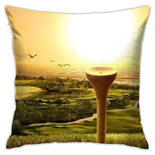 XCNGG Funda de Almohada Funda de cojín de Almohada para el hogar Ropa de Cama Throw Pillow Case, Golf Pillow Cover, Decorative Pillowcase Square Cushion for Sofa Couch Car 18x18