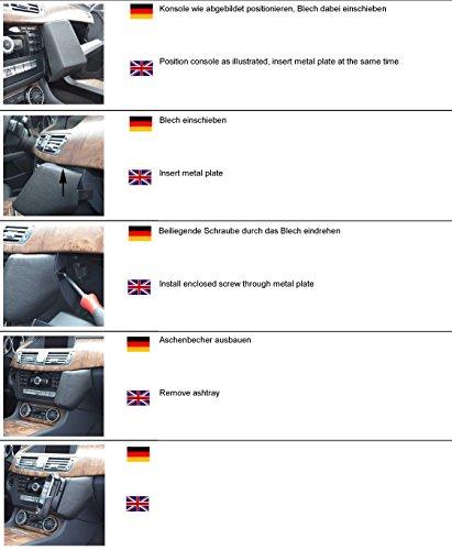 Preisvergleich Produktbild KUDA 091880 Halterung Echtleder schwarz für Mercedes CLS (C218) ab 01 / 2011 bis 2017