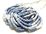 Natural Smooth sombreada azul ópalo Neumático / Heishi Forma de piedras preciosas perlas   4-5 mm de perlas Llanura...