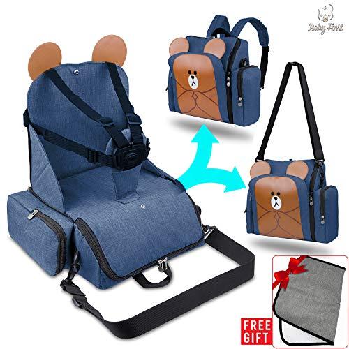 4in1 Travel-kinderstoellift, thermische kinderwagenzak met aankleedkussen Portable Mat Babies - multifunctionele moederrugzak, draagbare kinderstoel, Eco-Oxford Waterproof®-stof