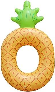 Zxb-shop Piña Inflable Anillo de natación Fruta Natación Flotante Fila Playa Piña Anillo (tamaño : M)
