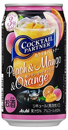 アサヒ カクテルパートナー 桃とマンゴーとオレンジ 350ml×1ケース(24本) ■3箱まで1個口発送可