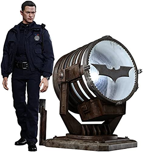 Hot Toys The Dark Knight Rises Movie Masterpiece Actionfigur 1 6 John Blake with Bat-Signal 30 cm
