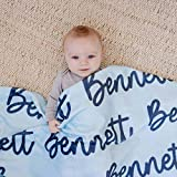 Personalized Baby Blanket, Baby Name Blanket, Custom Blanket for Baby Kids Youth Teenager Adult Plush Fleece Minky Sherpa Text Initials Monogram Gifts Tigolux, Baby Customized Blankets, Mothers Day