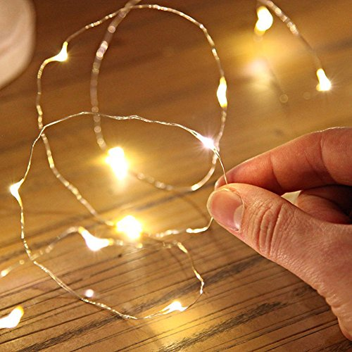 Vivianu Batterie Lichterkette Außen 1M Wasserdicht String Fairy Light String 10 LED Kupferdraht Für Weihnachtslicht Dekoration Party Hochzeit