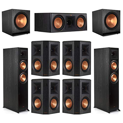 New Klipsch7.2 Ebony Home Theater System - 2 RP-6000F, 1 RP-600C, 4 RP-502S, 2 SPL-150 Subwoofers