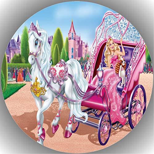 Fondant Tortenaufleger Tortenbild Geburtstag Barbie T8