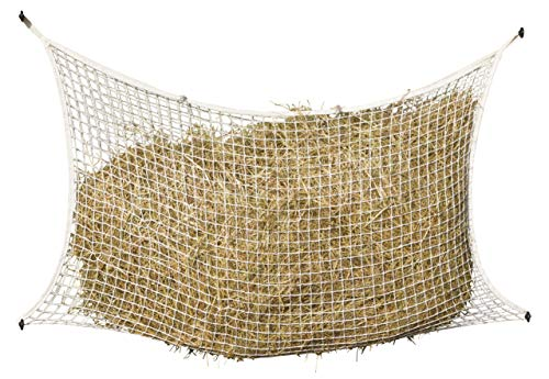 KERBL Filet à Foin Mailles pour Cheval, 160 x 100 cm, Blanc