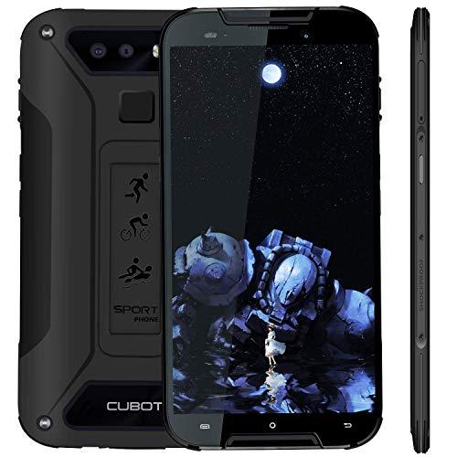 CUBOT Outdoor Smartphone ohne Vertrag Quest Lite, 4G LTE 5 Zoll HD Display,IP68 Wasserdicht Android 9.0 Sport Handy, 3GB Ram+32GB Rom Dual SIM Dual Kamera 13M / 8MP, Schwarz (Generalüberholt)