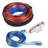 KSTE 4 Instalación Guage 2800W Car Audio Subwoofer del Altavoz del Amplificador Juego de Cables de Cable Fusible Traje