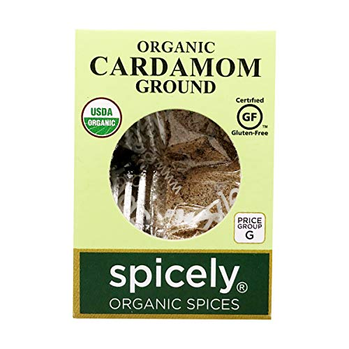 Spicely Organics Cardamom Powder 0.40 Ounce ecoBox Certified Gluten-Free