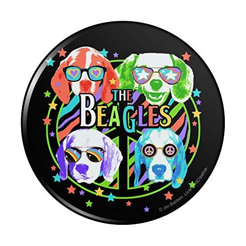 The Beagles Dog Band Peace Hippie Vintage Retro Pinback Button Pin