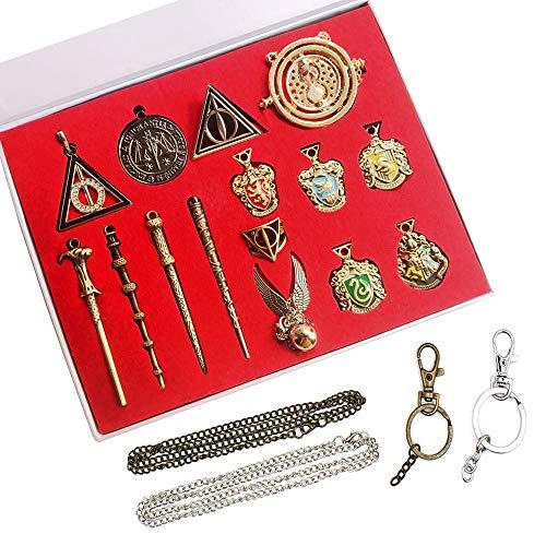 HCSUI 15 unidades de collar varitas mágicas para regalo, anillos para decorar Cosplay con caja de regalo
