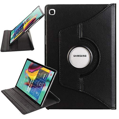 ZST Carcasa Funda Samsung Galaxy Tab S5e 10.5 T720/T725, Giratoria Slim PU Fundas Funda para Samsung Galaxy Tab S5e 10.5 Pulgadas T720/T725 2019, Negro
