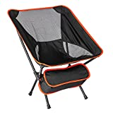 GOV Camping Chair Outdoor Backpacking Chair with Anti-Sinking Wide Feet,Camping Folding Chair Portable Duty Supports 300 lbs for Camping, Backpacking, Hiking, Beach, Picnic, with Carry Bag