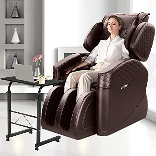 OOTORI 2020 New Massage Chair, Full Body Massage Chairs with Shiatsu Function, Zero Gravity Massage Chair & Recliner with Air Bags and Foot Rollers (Brown)