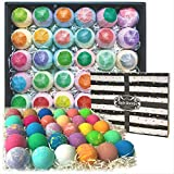 Bulk Bath Bombs 30 Pc Gift Set by Purelis. Ultra Luxury Bath Balls Individually Wrapped for Men & Women! Paraben & Sulfate Free Organic Spa Fizzies Infused with Essential Oils.