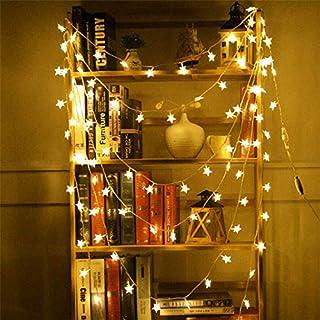 AMERTEER Twinkle Star 50 LED, 5M Star String Lights Battery Operated, Fairy String Light for Home, Party, Christmas, Weddi...