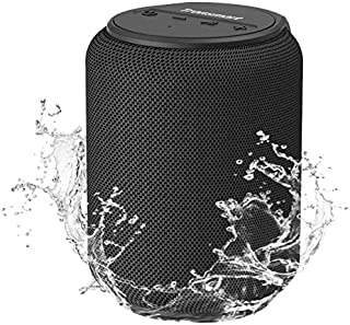 Bluetooth speakers 5.0, Tronsmart T6 Mini 15W Ultra Portable Outdoor Speaker with 24 Hrs Playtime, 360° TWS Stereo Sound, Extra Bass, IPX6 Waterproof, Support TF/Micro SD Card, Voice Assistant, Alexa (15W Black)