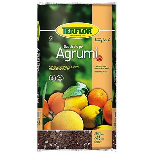 Terriccio Torba per Agrumi Substrato da 20 Lt Nutrimento Protezione Naturale