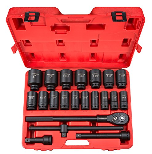TEKTON 3/4 Inch Drive Deep 6-Point Impact Socket Set, 22-Piece (7/8-2 in.) | 48995
