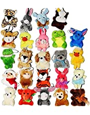 24 Pack Mini Animal Pluchen speelgoed Leuke Knuffels Sleutelhanger Toy Party Bag Fillers for Kids Children's Gifts