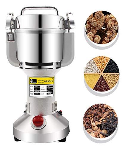 CGOLDENWALL 300g Electric Grain Mill Spice Herb Grinder Pulverizer Super Fine Powder Machine for Spice Herbs Grains Coffee Rice Corn Sesame Soybean Fish Feed Pepper Medicine 110V