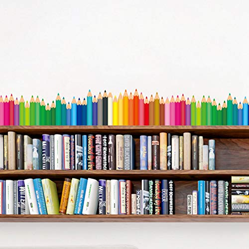 JTYQT Kleurrijke Potloden Baseboard Sticker PVC Materiaal DIY Cartoon Muurstickers voor Kinderen Kamers Baby Slaapkamer Decoratie