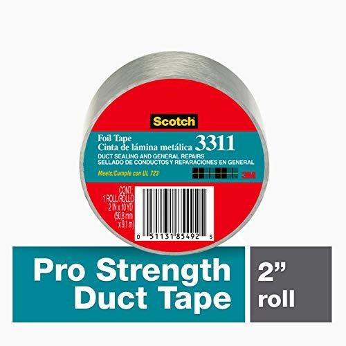 Scotch 3311-50 3311-50A Foil Tape, Silver