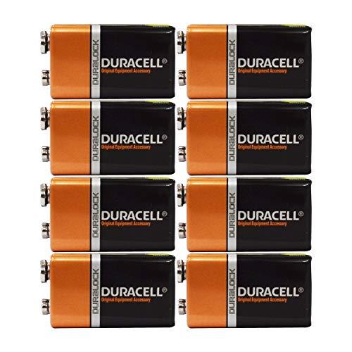 Duracell 9V Alkaline Batteries 8 Count