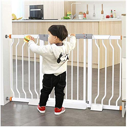 Jacquelyn Safety Gate Pressure Fit Safety Metal Gate Stands 78cm tall The width can be selected from 68 to 209cm Dog Gate Baby Gates with Extensions Available Ideal for Kids and Pets