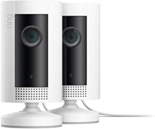 Introducing Ring Indoor Cam, Compact Plug-In HD security camera with two-way talk, White, Works with Alexa – 2-Pack