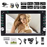Newest Car Stereo Android 10.0 System Double 2 Din Car DVD Player Capacitive Touch Screen Head Unit GPS Navigation WiFi 1080P Bluetooth Mirror Link FM/AM RDS Radio Video SWC Wireless Backup Camera