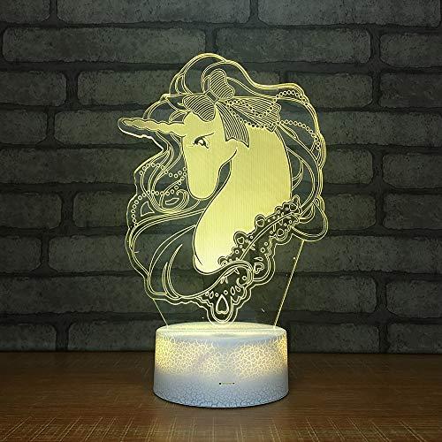 SUNCHTX 3DLED7 Farbe Tischlampe Acryl Beleuchtung Kinder Wohnzimmer Schlafzimmer Dekoration Schwarzlicht Weihnachtsgeschenk Schmuck B-312