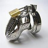Koduisy Metal Ċḣȧṡṯiṯy Device Ċḣȧṡṯiṯy Lock Metal Ċḣȧṡṯiṯy Belt Ċḣȧṡṯiṯy Cǎge Silver Ċḣȧṡṯiṯy Dêvice for Male Pêňís Ring Electro Stimúlätiọn Lock Rings Metal Bütt Plüg (Size : 44mm)