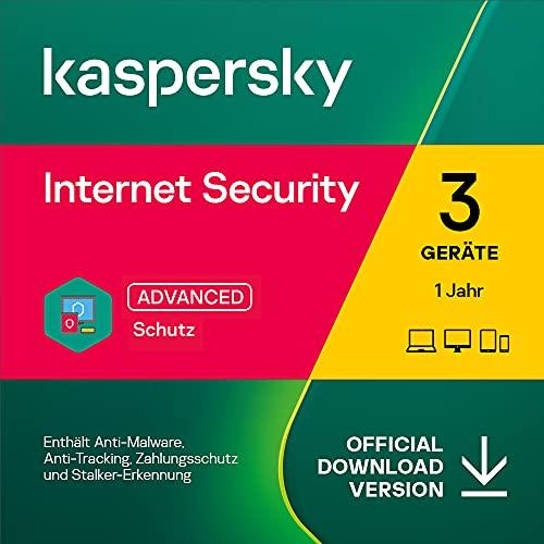 Kaspersky Internet Security 2021 | 3 Geräte | 1 Jahre | Windows/Mac/Android | Aktivierungscode per Email