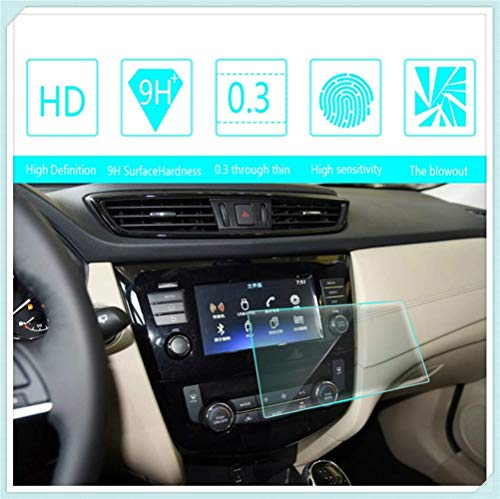 Maiqiken for Nissan X-Trail 2012 2013 2014 2017 2014 2015 2016 7 Inch 155×81mm Navigation Screen Protector Touch Screen Display Film 9H Hardness Anti Glare Anti Scratch GPS Screen Protector Foils