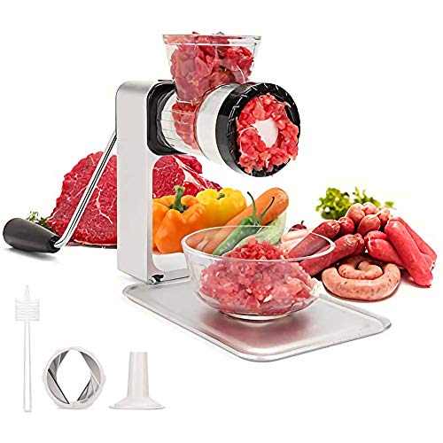 Meat Grinder Sausage with Powerful Suction Base Heavy Duty Stainless Steel Blades for Home Use Fast and Effortless for All Meats Powerful Suction Base