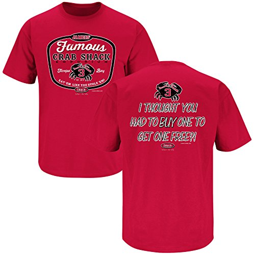 Tampa Bay Buccaneers Fans. Jameis' Famous Crab Shack Red T-Shirt (S-5X) (Small)