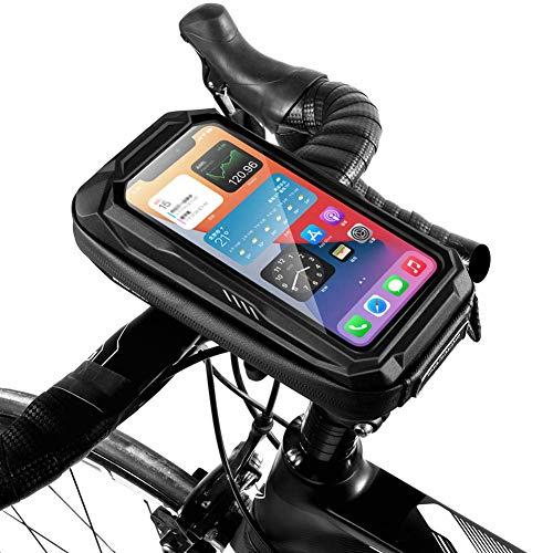 HCFSUK Soporte para teléfono para Bicicleta, Funda Impermeable para Bicicleta, Soporte para Bicicleta de 6,9 Pulgadas, Soporte para teléfono móvil, Bolsa para Manillar, Accesorios para Bicicleta