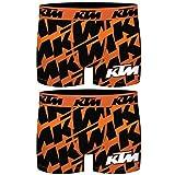 KTM PK1605-M Talla M: Set 2 Boxer Microfibra (92% poliéster-8% Elastano) -Multicolor, Pack De 02 Pk1605, Hombre
