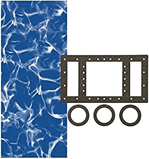 Smartline Sunlight 28-Foot Round Liner | Overlap Style | Up to 54-Inch Wall Height | 25 Gauge Virgin Vinyl | Designed for Steel Sided Above-Ground Swimming Pools | Universal Gasket Kit Included