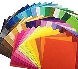 48枚 カラー フェルト 生地 クラフト DIY手芸用 サイズが選べる カットフェルト 1mm厚 48色セット (30cm x 30cm)