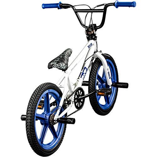 DETOX BMX 18 Zoll Rude Skyway Freestyle Bike Street Park Fahrrad viele Farben (weiß/blau) - 3