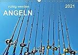 Ruhig werden - Angeln (Wandkalender 2021 DIN A3 quer)