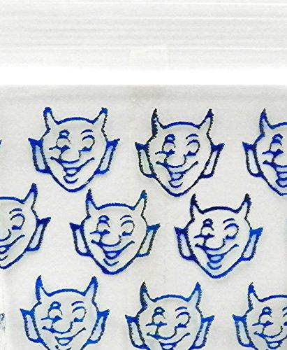 Original Mini Ziplock Reclosable Plastic Bags, Blue Devil (1510, 100 Bags)